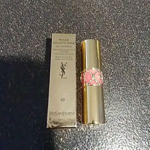 Ysl #49 Rouge volupte Shine Lipstick
